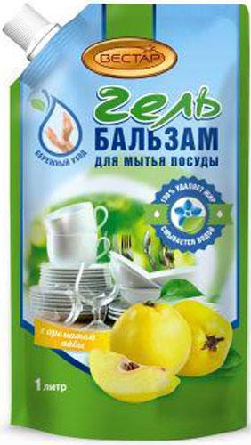 Гель-бальзам для мытья посуды Vestar Айва, 1 л бальзам для мытья посуды зеленый чай frosch 0 5 л