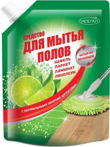 Средство для мытья пола Vestar, 750 мл00-00000883Средство для мытья пола «Vestar» предназначено для эффективной очистки полов любого типа.Средство удаляет стойкие пятна грязи, не разрушая очищаемую поверхность, придавая чистоту и блеск на длительный срок. Оставляет приятный натуральный запах цитрусовых.Не содержит химических отдушек.