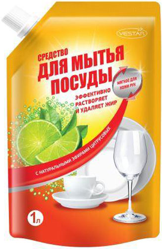 Гель-бальзам для мытья посуды Vestar Цитрус, 1 л бальзам для мытья посуды зеленый чай frosch 0 5 л