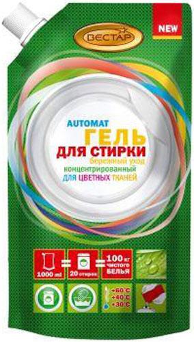 Гель для стирки Vestar 3в1, 1 л гель для стирки liq арома капсулы 1 л 900215