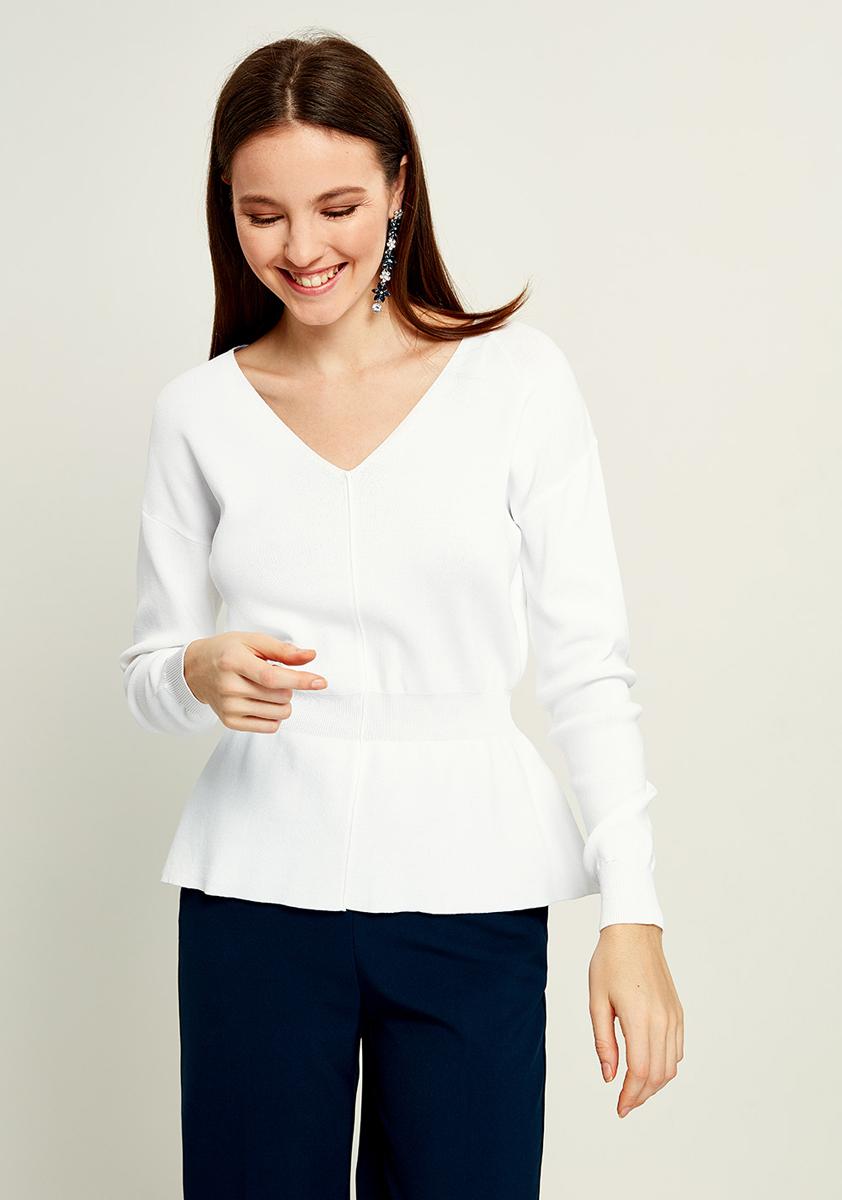 Джемпер женский Zarina, цвет: белый. 8121614812002. Размер XL (50)