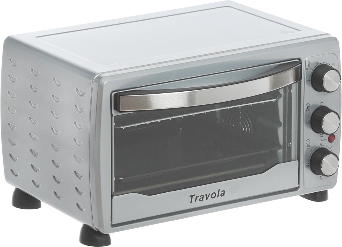 Travola KYS-C19-RCL, Silver мини-печьKYS-C19-RCLМини-печь Travola KYS-C19-RCL станет незаменимым помощником на кухне и поможет приготовить множество разнообразных блюд. Несмотря на свой компактный размер, модель обладает высокой мощностью - 1400 Вт.Для управления мини-печью используются удобные механические переключатели. Создатели предусмотрели таймер отключения, рассчитанный на 60 минут, с его помощью можно устанавливать время приготовления блюда.Световой индикатор покажет владельцу, что прибор включен и готов к использованию. Также предусмотрен звуковой сигнал, сообщающий о том, что сработал таймер отключения.