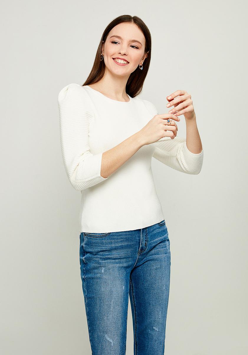 Джемпер женский Zarina, цвет: белый. 8122626822001. Размер XS (42) джемпер для девочки zarina цвет белый 8122516416008d размер 122