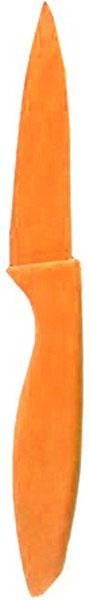 Нож кухонный Miolla, цвет: оранжевый, длина лезвия 7,5 см1508107UУниверсальный нож от Miolla будет незаменим на кухне и легко разрежет любые виды продуктов. Нож оснащен лезвием из нержавеющей стали с декорированным покрытием. Нож легко моется - достаточно ополоснуть его в теплой воде и вытереть насухо полотенцем. Эргономичная рукоятка с протектором для пальцев удобно лежит в руке и обеспечивает комфортную резку. Не подходит для мытья в посудомоечной машине.