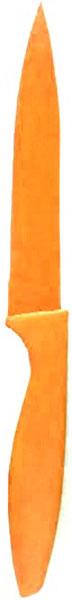 """Нож кухонный """"Miolla"""", цвет: оранжевый, длина лезвия 12,5 см"""