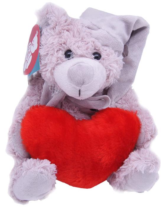 Magic Bear Toys Мягкая игрушка Мишка Дилан в шапке и шарфе с сердцем 23 см