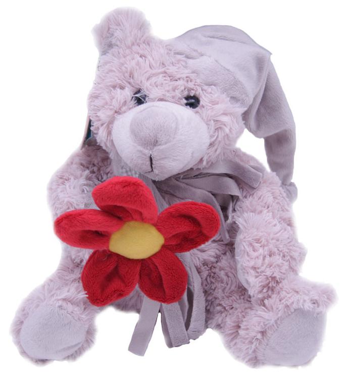 Magic Bear Toys Мягкая игрушка Мишка Дилан в шапке и шарфе с цветком 23 см magic bear toys мягкая игрушка медведь с заплатками в шарфе цвет коричневый 120 см