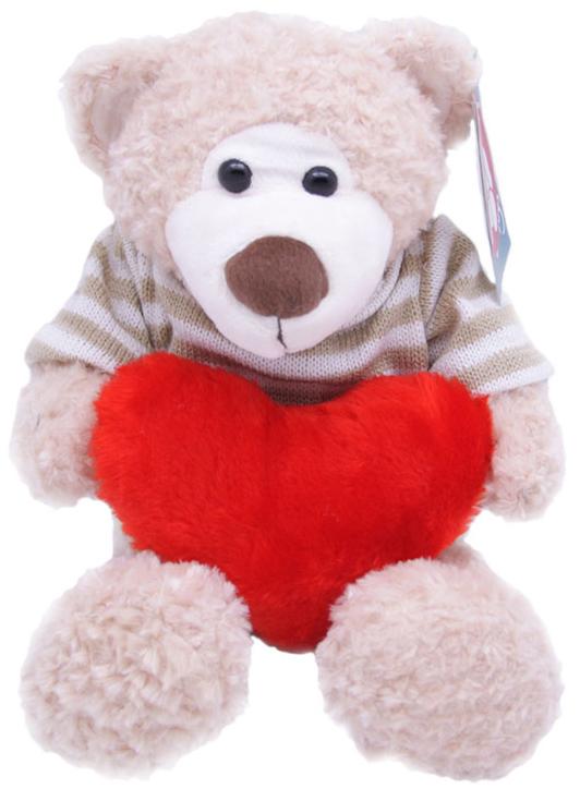 Magic Bear Toys Мягкая игрушка Мишка Теодор в свитере с сердцем 25 см magic bear toys мягкая игрушка мишка патрик в шапке с сердцем 25 см цвет серый