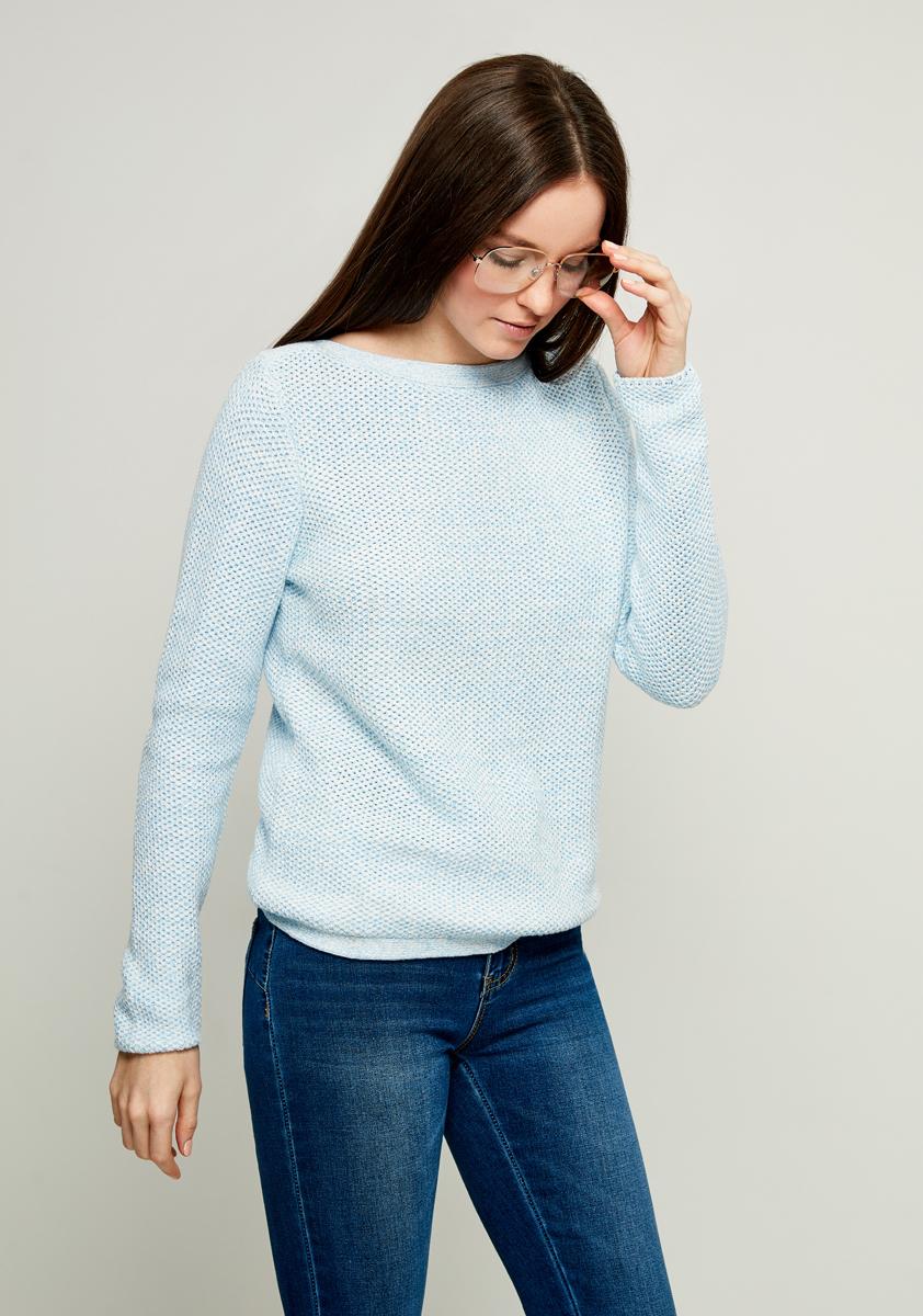 Джемпер женский Zarina, цвет: голубой. 8122619816041. Размер S (44)8122619816041