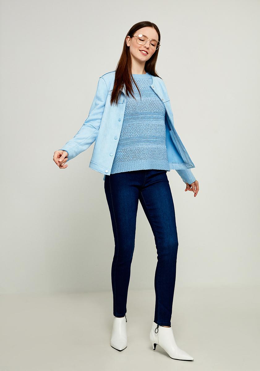 Джемпер женский Zarina, цвет: голубой. 8123600800041. Размер L (48)8123600800041