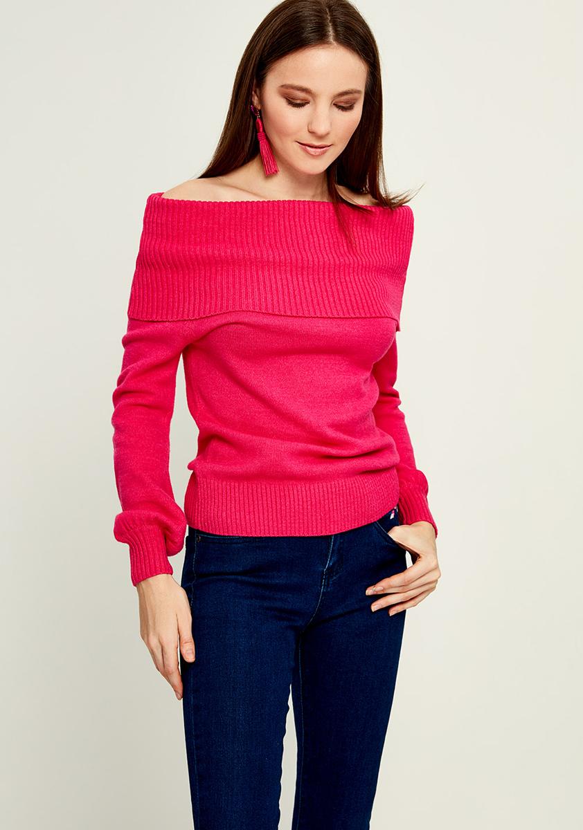 Джемпер женский Zarina, цвет: розовый. 8121612810077. Размер S (44)
