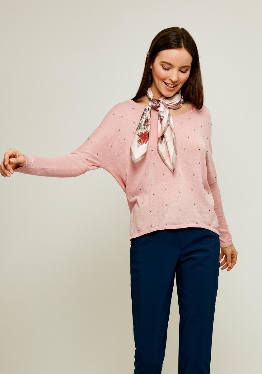 Джемпер женский Zarina, цвет: светло-розовый. 8122606806097. Размер S (44) джемпер женский vero moda цвет розовый 10189425 misty rose размер s 42