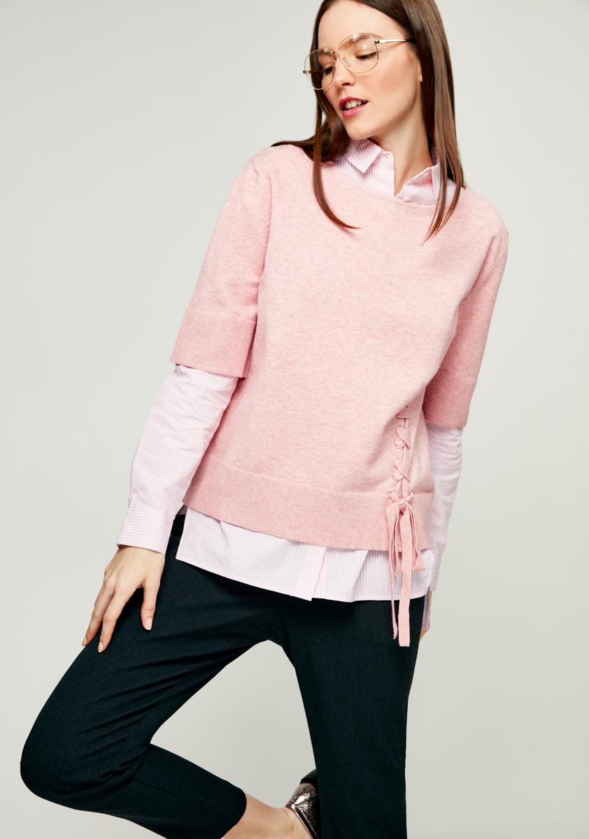 Джемпер женский Zarina, цвет: светло-розовый. 8122607807097. Размер XL (50)
