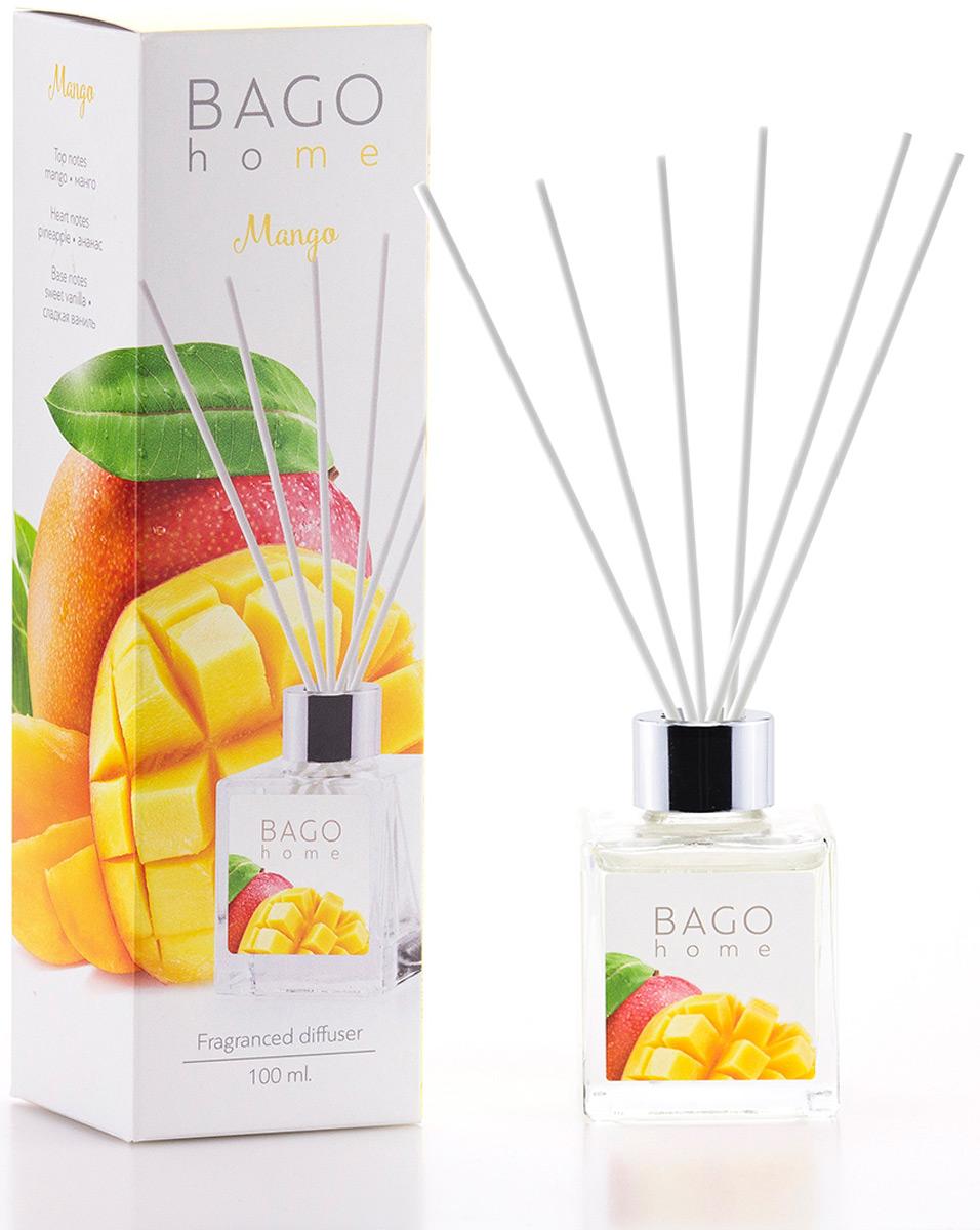 Диффузор ароматический BAGO home Манго, 100 мл ароматический диффузор cristalinas premium для жилых помещений с ароматом магнолии 180 мл
