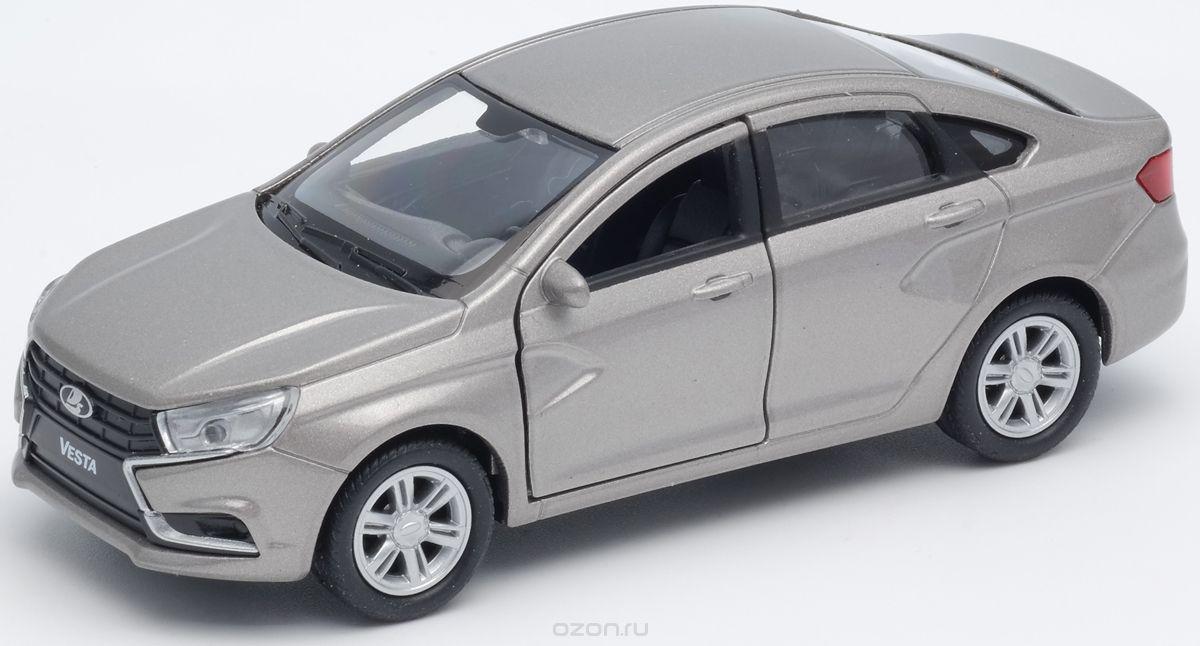 Welly Машинка LADA Vesta цвет серебристый машина welly lada vesta такси 43727ti