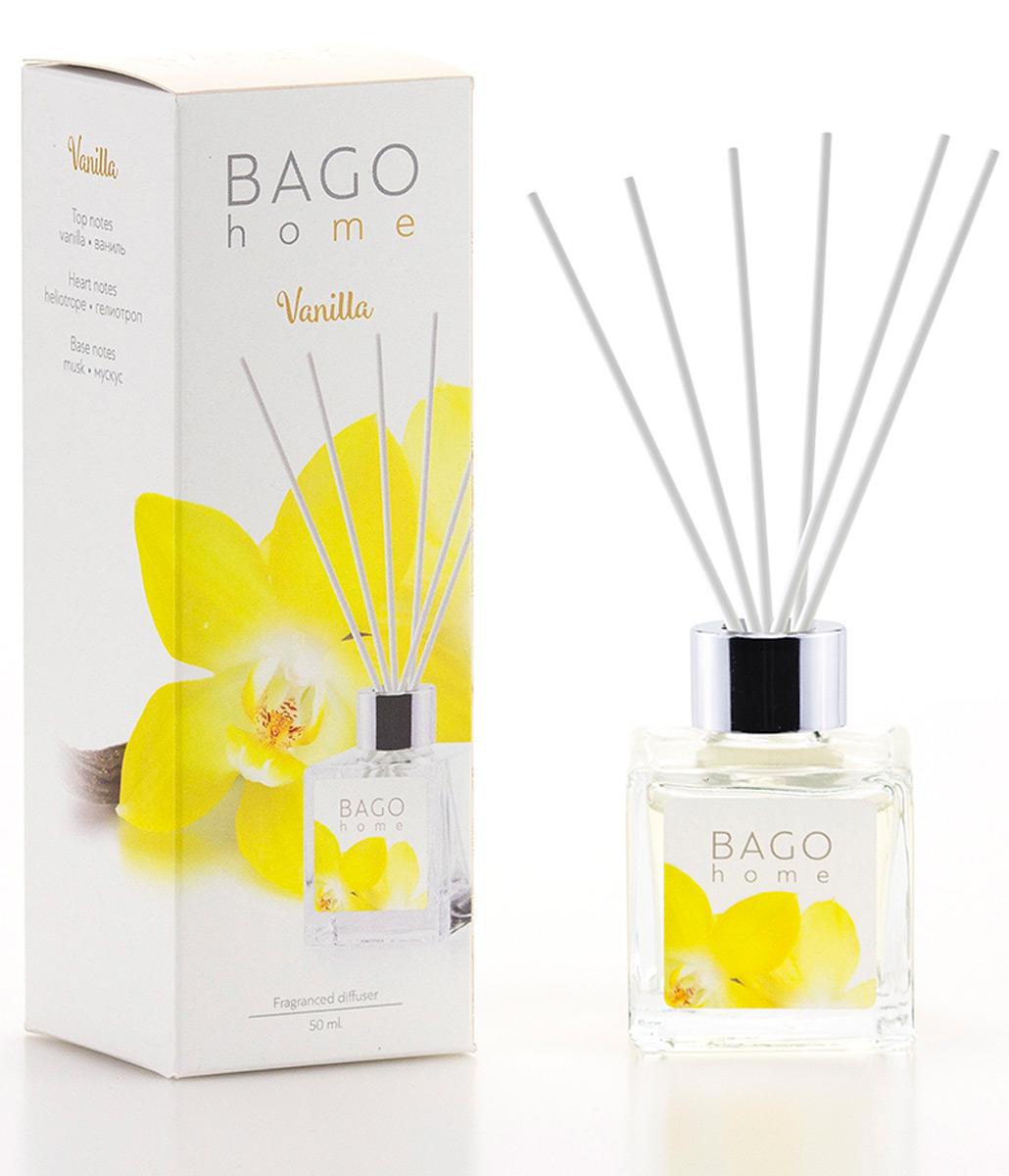 Мини-диффузор ароматический BAGO home Ваниль, 50 мл ароматический диффузор cristalinas premium для жилых помещений с ароматом магнолии 180 мл