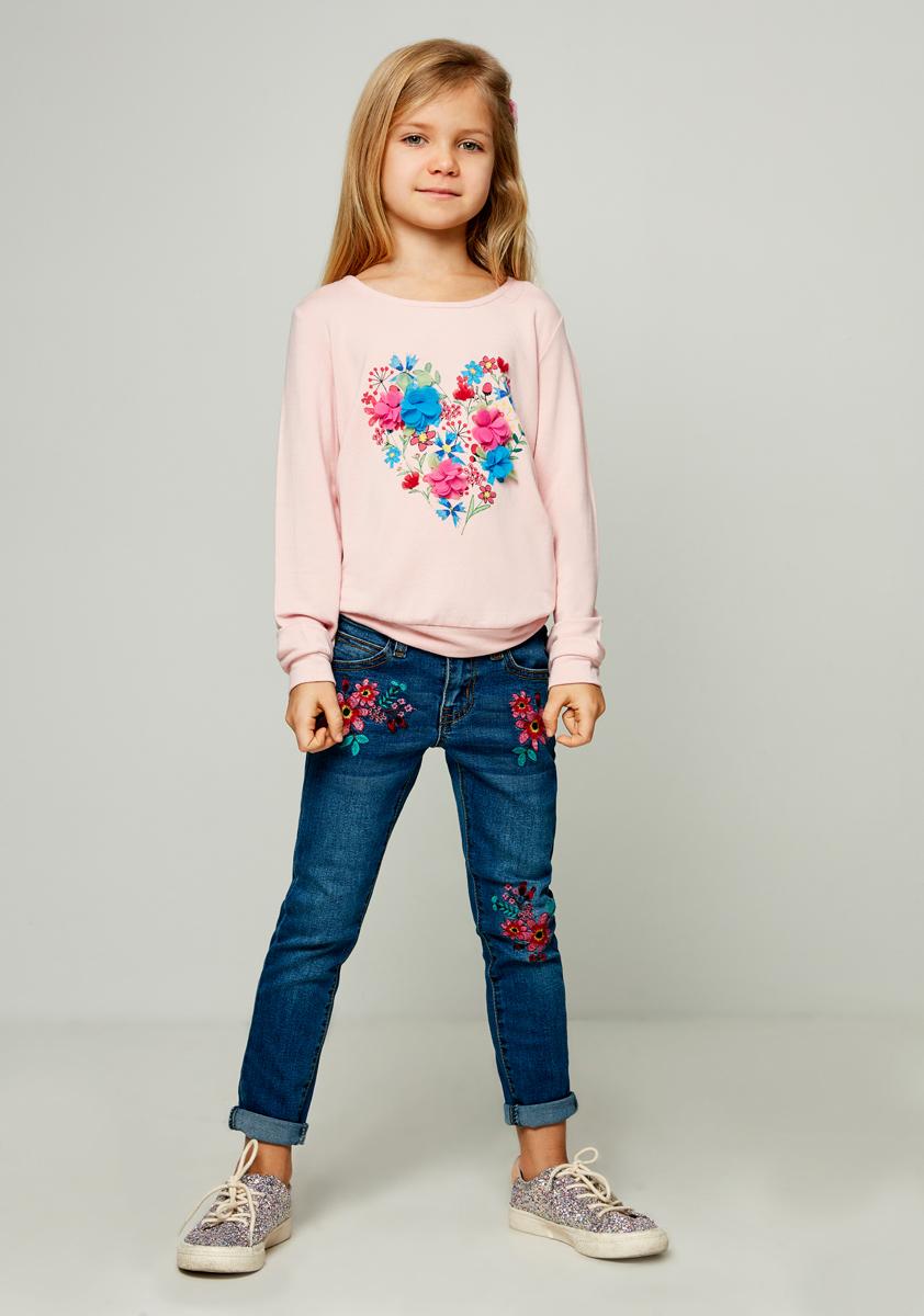 Джинсы для девочки Zarina, цвет: серый. 8122421721108D. Размер 1408122421721108D
