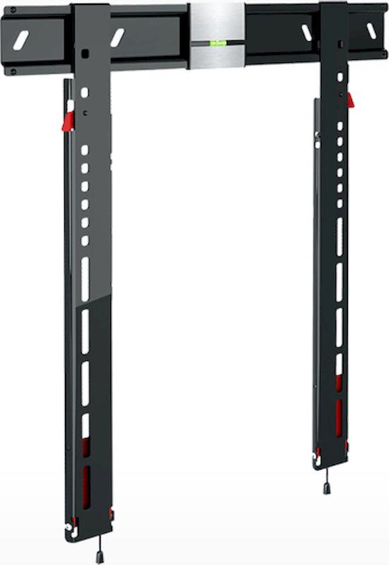 Holder LCDS-5083, Black Gloss кронштейн для ТВ настенныйLCDS-5083, черный глянецКрепление для ТВ и мониторов Holder LCDS-5083 – это ультратонкий фиксирующий механизм для крепления LED-телевизоров и панелей, черного цвета. Благодаря передвигающемуся пузырчатому уровню и крепежным отверстиям специальной формы основание кронштейна легко монтируется и выравнивается по горизонтали. Holder LCDS-5083 используется для мониторов и ТВ с максимальным весом в 35 кг и диагональю экрана от 37 до 55 дюймов. Долговечная сталь и закрепляющий механизм надежно закрепят ТВ стандарта VESA от 200 до 400 мм. Удаленность от стены минимальная и составляет 8 мм. При необходимости можно незаметно подвести провода и кабель через направляющие со стороны стены.