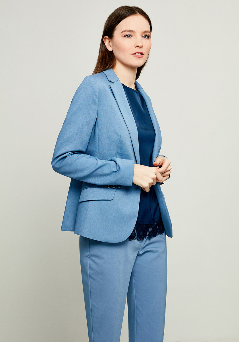 Жакет женский Zarina, цвет: синий. 8123222606059. Размер 48