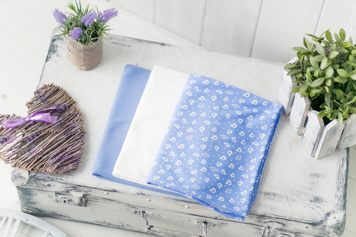 Пеленка Lucky Child, цвет: голубой, 3 шт. 30-8. Размер 120 x 90 см