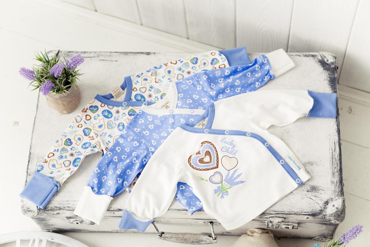 Распашонка Lucky Child, цвет: голубой, белый, 3 шт. 30-187. Размер 50/5630-187Распашонка для новорожденного Lucky Child с длинными рукавами послужит идеальным дополнением к гардеробу вашего малыша, обеспечивая ему наибольший комфорт. Изготовленная из натурального хлопка, она необычайно мягкая и легкая, не раздражает нежную кожу ребенка и хорошо вентилируется, а эластичные швы приятны телу малыша и не препятствуют его движениям. Удобные застежки-кнопки по всей длине помогают легко переодеть младенца. Распашонка полностью соответствует особенностям жизни ребенка в ранний период, не стесняя и не ограничивая его в движениях. В ней ваш малыш всегда будет в центре внимания.