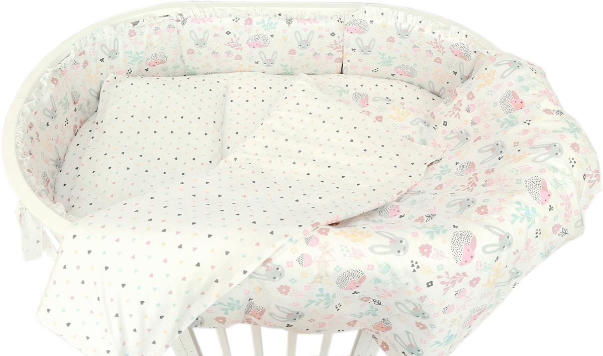 Baby Nice Борт комбинированный Лесная поляна цвет розовый S733/1