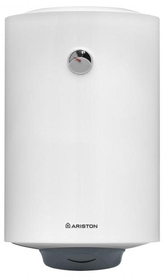 80л., 1,5кВт., вертикальный, цилиндрический стандартный, мех. управление, внутр. бак - нерж. сталь, корпус металл, термометр, белый/темно-серый, Россия