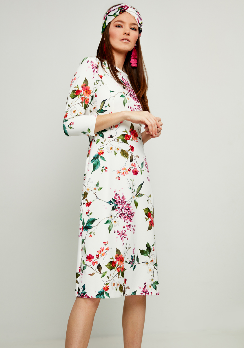 Платье Zarina, цвет: белый. 8122013515004. Размер 488122013515004