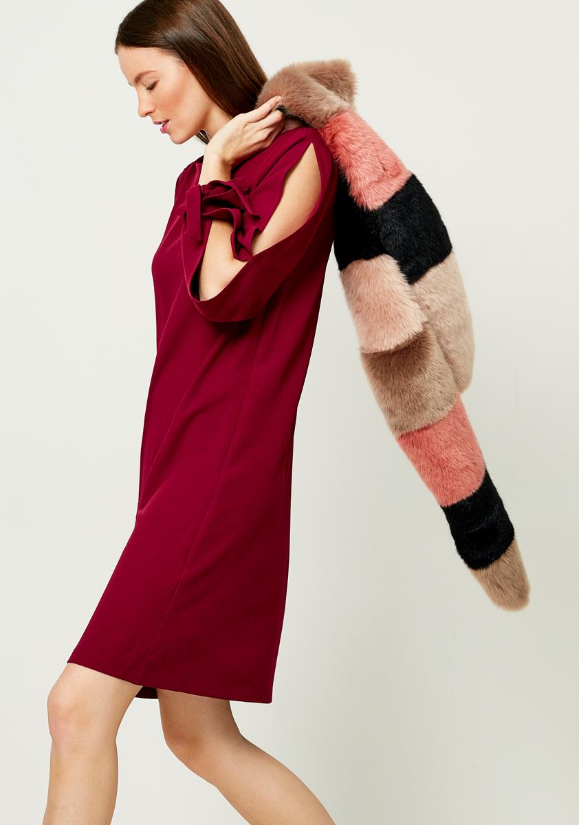 Платье Zarina, цвет: бордовый. 8121007507071. Размер 448121007507071