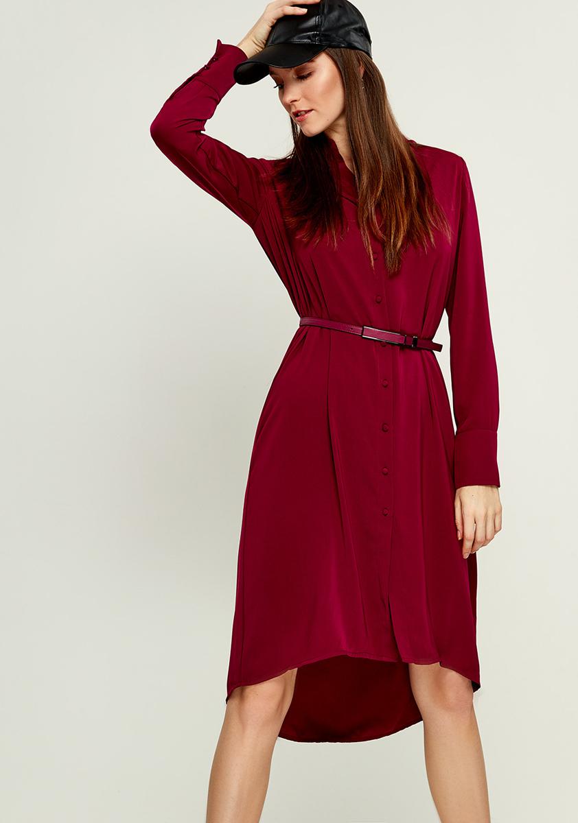 Платье Zarina, цвет: бордовый. 8121012512071. Размер 428121012512071