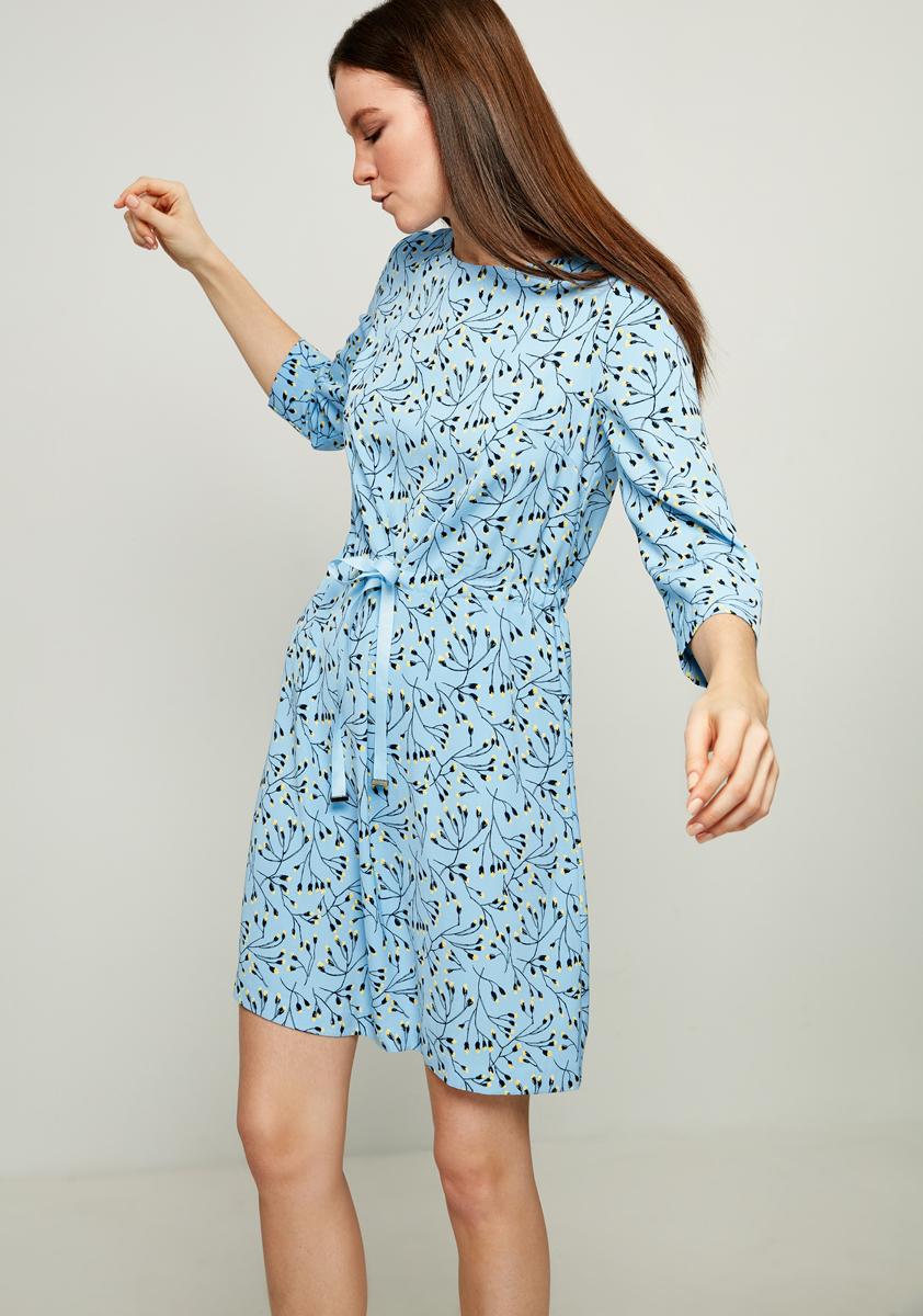Платье Zarina, цвет: голубой. 8123042542052. Размер 468123042542052