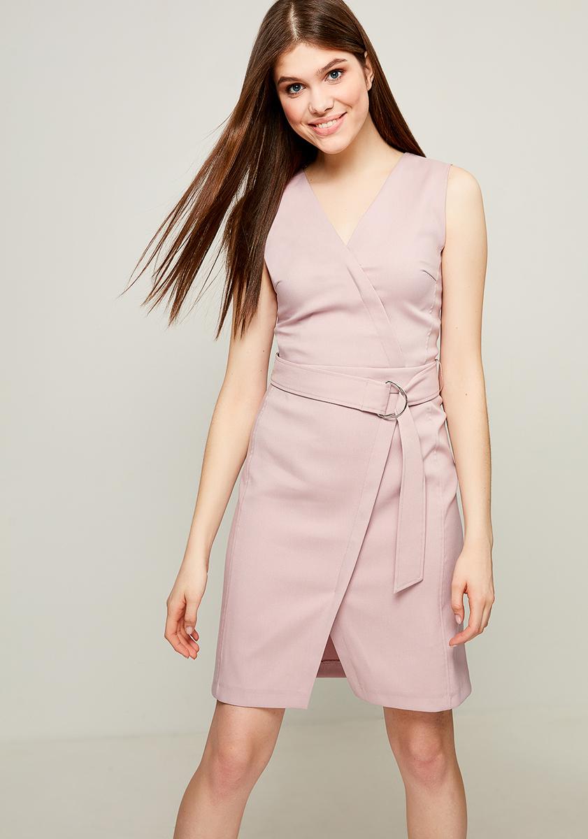 Платье Zarina, цвет: пепельно-розовый. 8123012512098. Размер 508123012512098