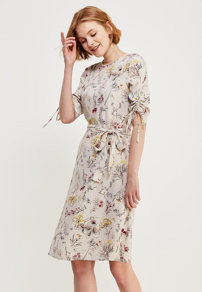 Платье Zarina, цвет: светло-бежевый. 8122019521036. Размер 448122019521036