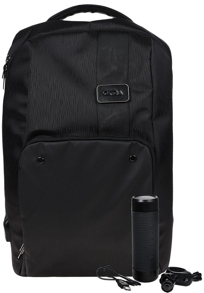 "Okira Next, Black рюкзак для ноутбука 15,6"" с аккумулятором"