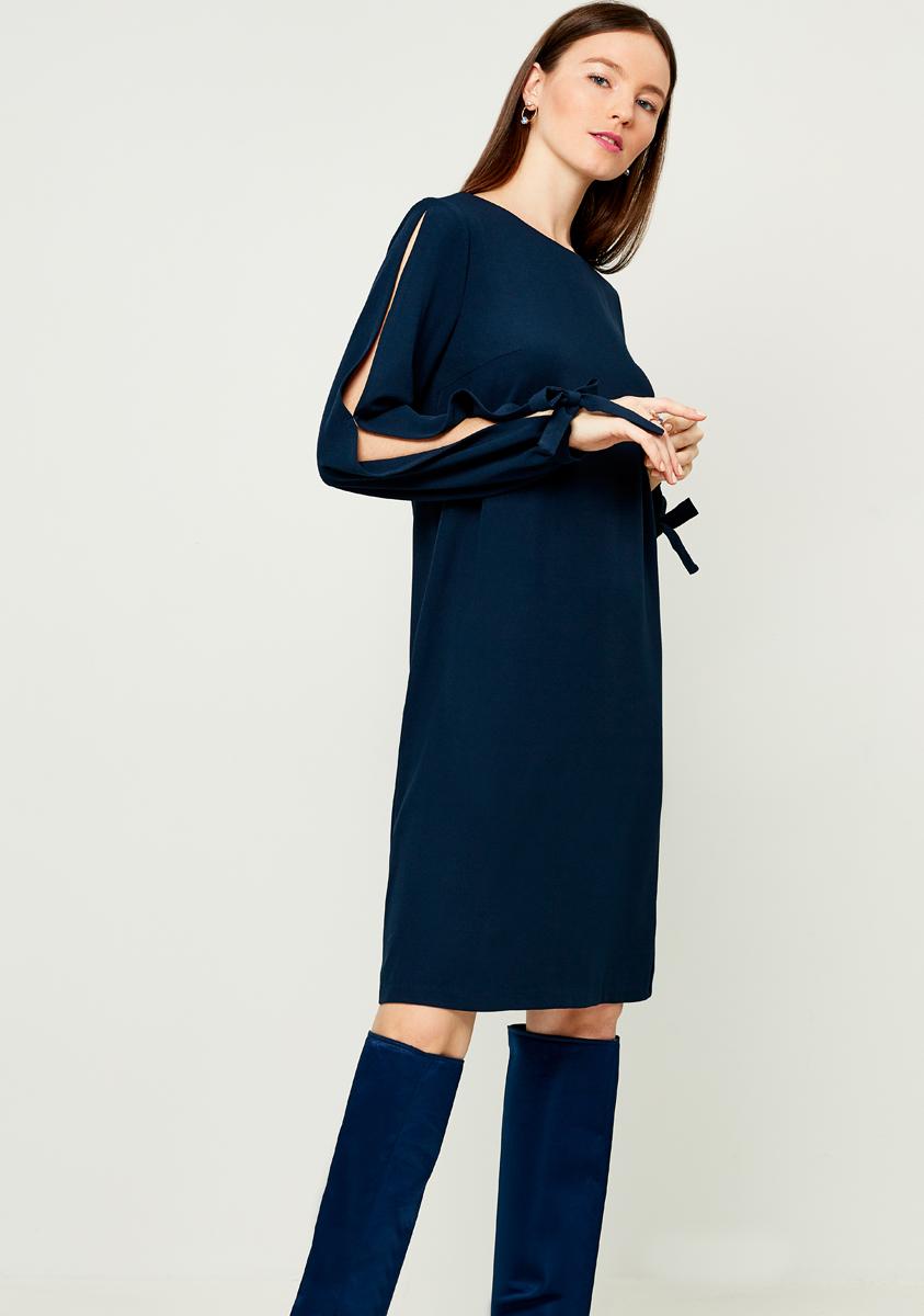 Платье Zarina, цвет: темно-синий. 8121007507047. Размер 468121007507047