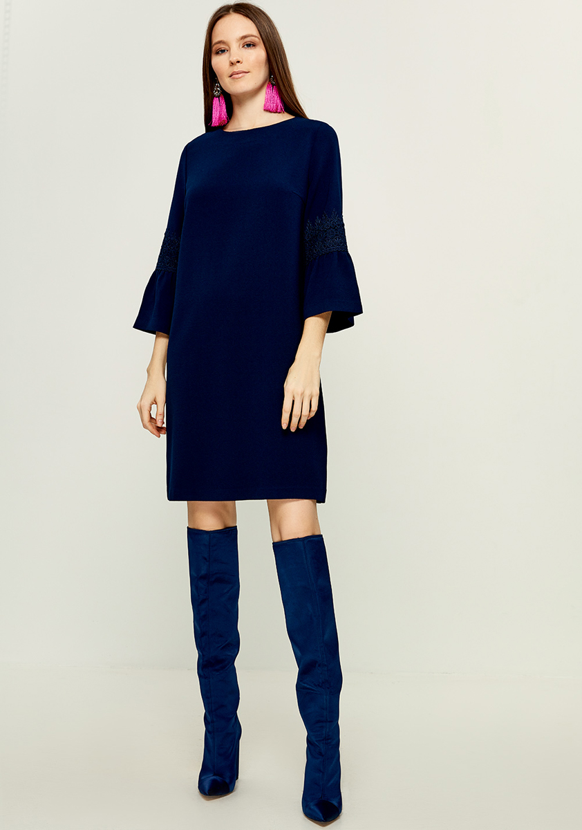 Платье Zarina, цвет: темно-синий. 8121011511047. Размер 42 платье zarina цвет синий 8123002502056 размер 50