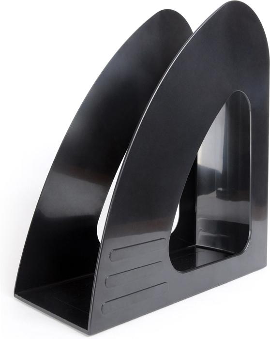 Hatber Лоток вертикальный цвет черный 23,5 х 9 х 24 см - Лотки, подставки для бумаг