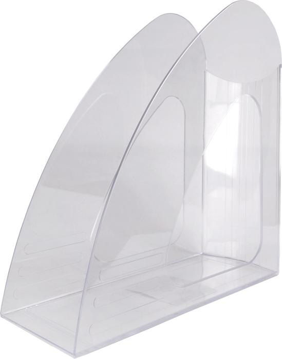 Hatber Лоток вертикальный цвет прозрачный 23,5 х 9 х 24 см047422Оригинальный и компактный вертикальный лоток без ограничителя предназначен для хранениянеформатных папок, бумаг и печатных изданий.