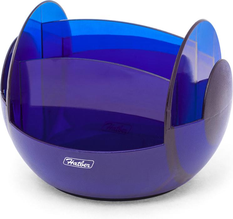 Hatber Подставка настольная вращающаяся Universal цвет синий049216Оригинальный дизайн, модная комбинация разных фактур пластика (глянцевой и матовой).Подставка вращается на 360 градусов. Выполнена из полупрозрачного пластика синего цвета.Без наполнения.