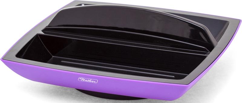 Hatber Подставка настольная вращающаяся Eco цвет фиолетовый -  Органайзеры, настольные наборы