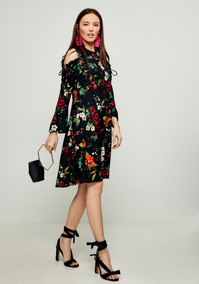 Платье Zarina, цвет: черный. 8122012514055. Размер 488122012514055