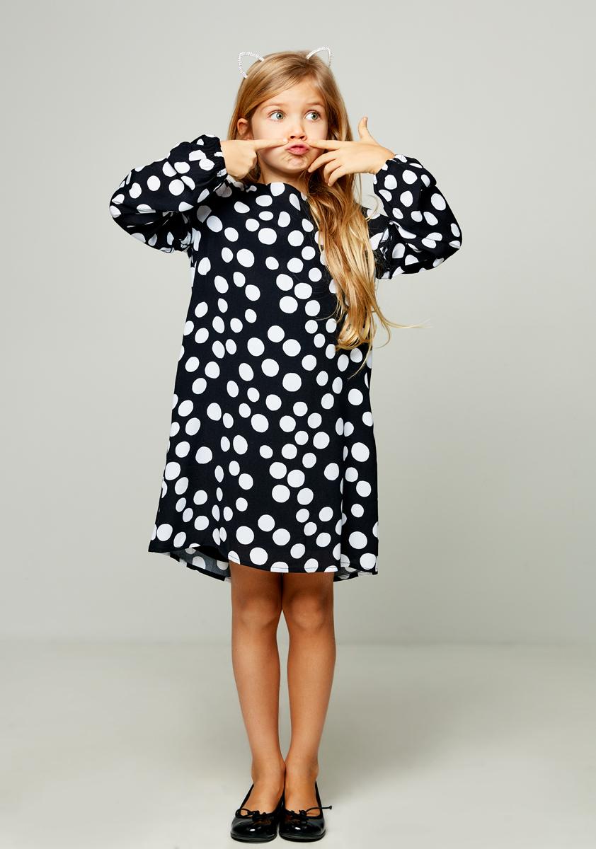 Платье для девочки Zarina, цвет: черный. 8122026526054D. Размер 1288122026526054D