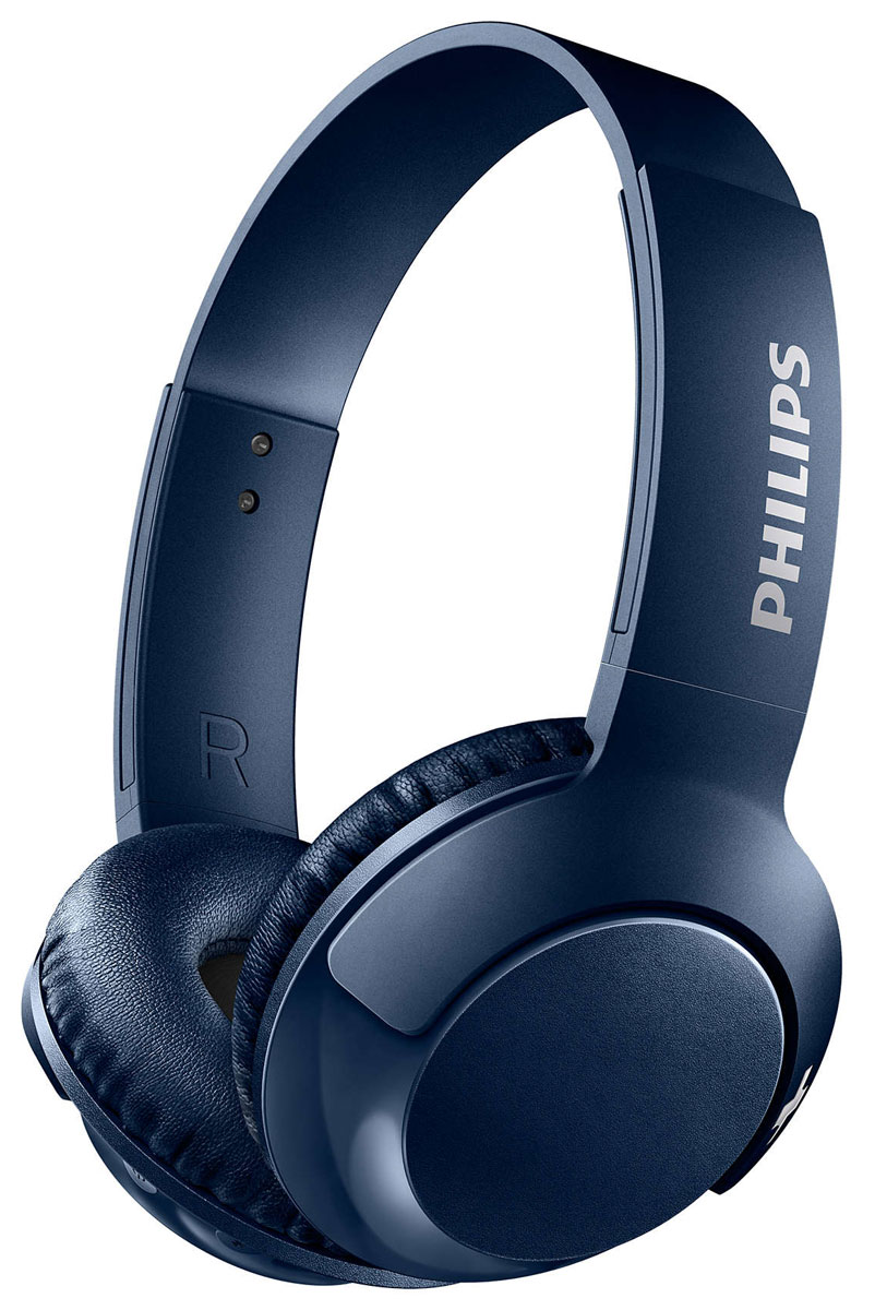 цена на Philips SHB3075 Bass+, Blue Bluetooth-гарнитура