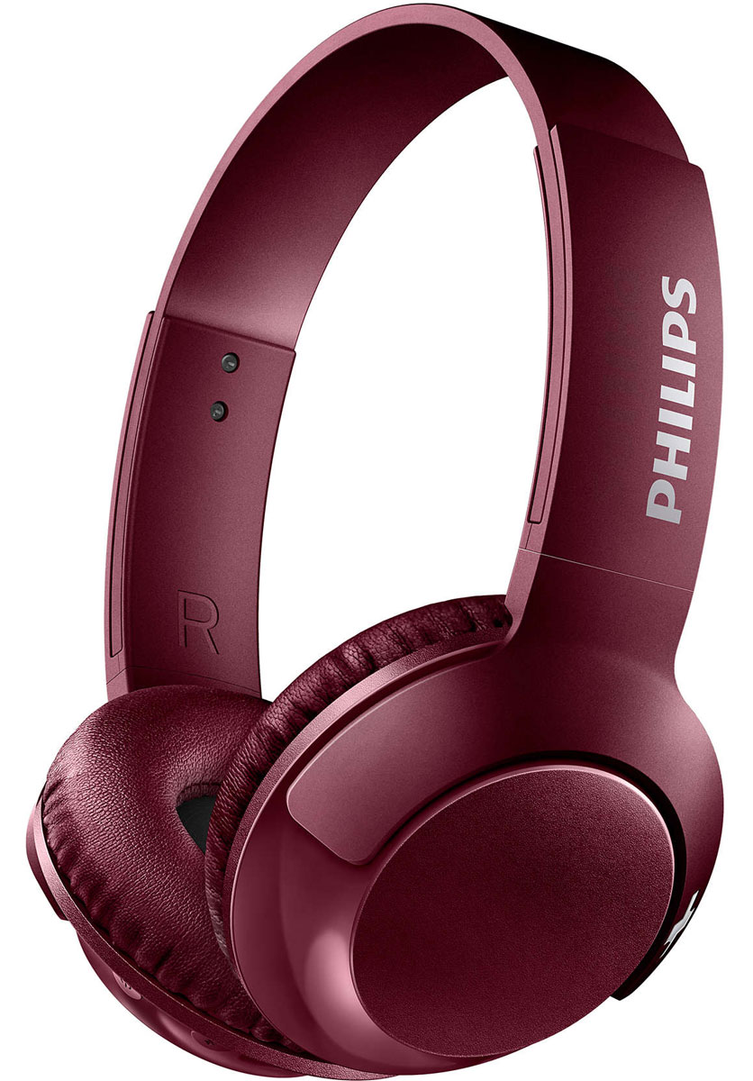 Philips SHB3075 Bass+, Red Bluetooth-гарнитура