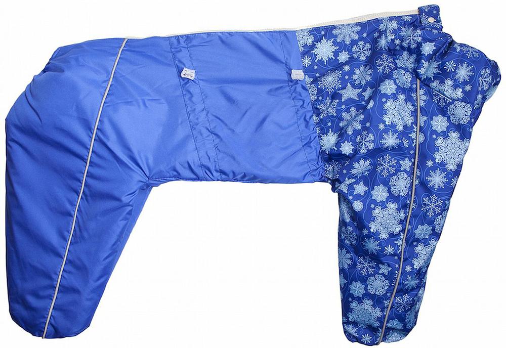 Комбинезон для собак OSSO Fashion, для мальчика, цвет: синий. Размер 50Ксп-1040-синий-вставкаКомбинезон на синтепоне для собак OSSO Fashion состоит из водоотталкивающей и ветрозащитной ткани 100% полиэстер, обработанной водоотталкивающей (PU) пропиткой, утеплитель - синтепон, подкладка 100% полиэстер. Идеален для прогулок в холодную, морозную или сырую погоду для защиты собаки от снега, грязи и воды. Выполнен из двух сочетаемых по цвету тканей, используется отделка со светоотражающим кантом. Внутренняя часть утеплена синтепоном. Застегивается сверху на спине на молнии. На воротнике имеется кнопка для фиксации. Комфортная посадка по корпусу достигается за счет резинок-утяжек под грудью и животом. Низ штанин собран на резинку, при желании можно подвернуть. Комбинезон OSSO Fashion максимально защитит собаку от холода и грязи, т.к животик полностью закрыт, для кобелей есть специальный вырез. Рекомендуется машинная стирка с использованием средства для стирки деликатных тканей (при температуре не выше 40С), сушка на воздухе - с целью уменьшения воздействия на водоотталкивающую (PU) пропитку ткани.Длина спины: 50 смОбъем груди: 70 смОбъем талии: 64 см