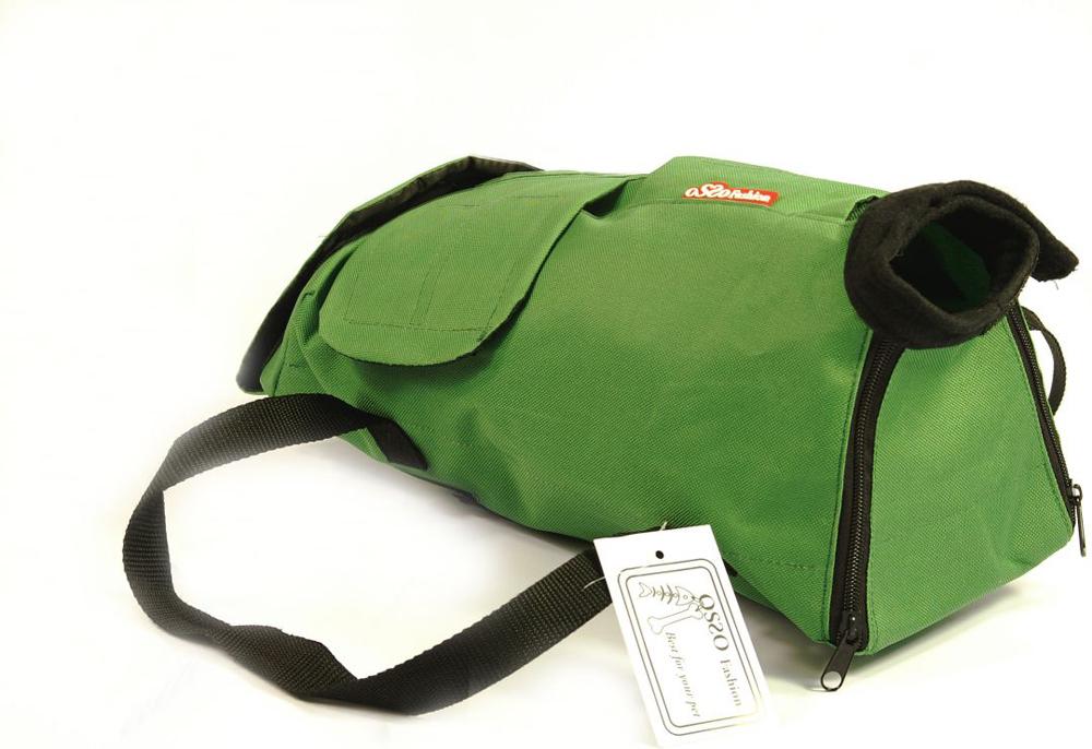 Сумка-фиксатор для кошек  OSSO Fashion , цвет: зеленый. Размер M - Переноски, товары для транспортировки