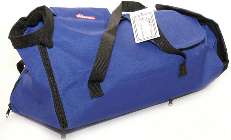 Сумка-фиксатор для кошек  OSSO Fashion , цвет: синий. Размер XL - Переноски, товары для транспортировки