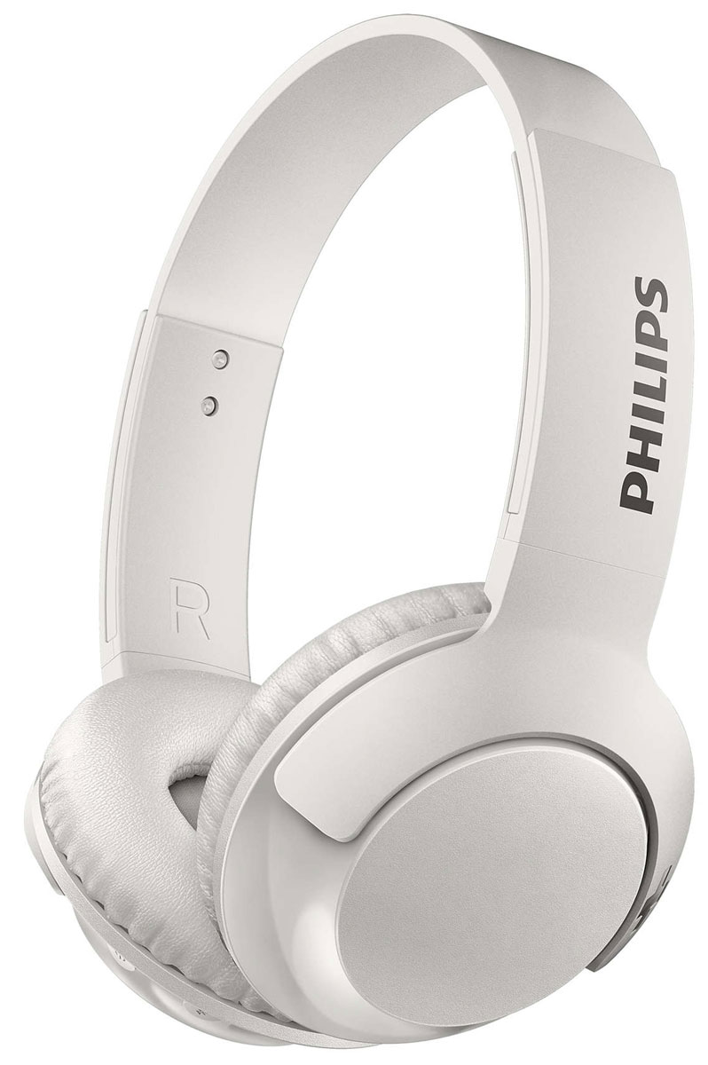Philips SHB3075 Bass+, White Bluetooth гарнитура marshall monitor bluetooth black наушники
