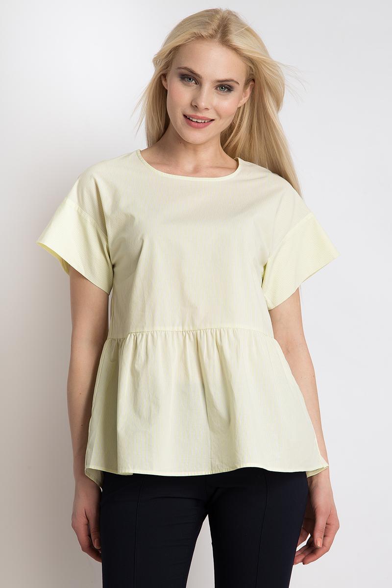 Блузка женская Finn Flare, цвет: желтый. B18-12040_418. Размер XL (50)B18-12040_418