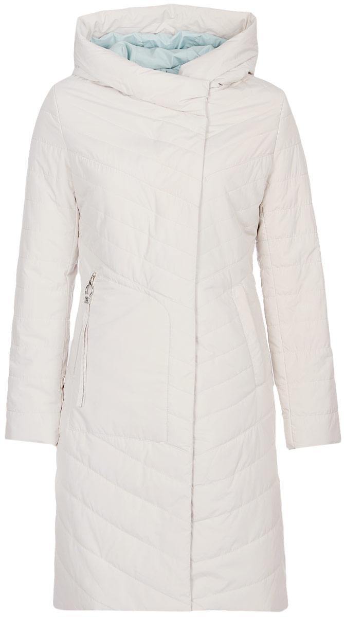 Куртка женская Malinardi, цвет: бежевый. MR18C-C8617. Размер XXL (50)MR18C-C8617(503)Модная женская куртка Malinardi, выполненная из высококачественного материала с синтепоновым утеплителем, отлично подойдет для прохладной погоды. Модель приталенного кроя с капюшоном и воротником-стойкой, надежно защищающим от ветра, застегивается на двухзамковую молнию с ветрозащитной планкой на кнопках и дополнена двумя прорезными карманами, один из которых на молнии.